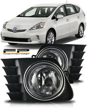 2012 2013 2014 Toyota Prius V Fog Light Clear Bulb+Harness+Relay+Switch Full Kit