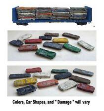 N Scale Crushed Scrap Cars. 12 Pack w/ Steel Highlights