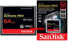 Sandisk Extreme Pro 64GB 64G Compact Flash Card CF 160MB/s 1067x UDMA7 in Sydney