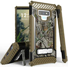 Autumn Camo Tree Real Woods Rugged Case Cover Stand for Samsung Galaxy Note 9