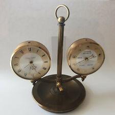 Swiza Sheffield 8 Day (Tage) Alarm Clock Uhr mit Barometer Patent Pending Swiss