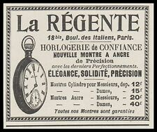 Publicité Montre à Gousset La Regente Watch photo vintage print ad  1899  - 3h