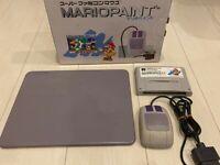 Nintendo SNES Mario Paint Artist Mouse & Pad boxed SFC Super Famicom Japan