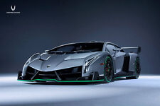 1:18 KYOSHO LAMBORGHINI Veneno grigio grey with Green Line