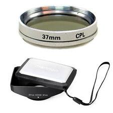 37mm 16:9 Wide Hood,CPL Filter for Sony Handycam DCR SR200,SR300,TRV460,TRV480