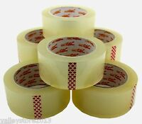 """Lot Packing Carton Sealing Packaging Tape 2"""" 110 Yds 330 ft Clear 2 MIL"""