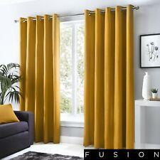 ea8222b286 Sorbonne Lined Eyelet Curtains Cotton Ochre 46 Width X 72 Drop 117 X 183cm