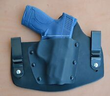 leather/kydex hybrid IWB tuckable holster for the S&W M&P9c/40c