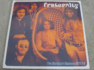 FRATERNITY - THE BON SCOTT SESSIONS 1971-72 - ROCK - NEW