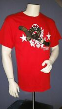 Men Rocawear Classic Large  Red w/Logo Crewneck Collar  NWT
