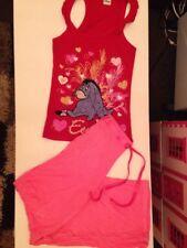 Disney Eeyore Vest Top & F&F Pink Pj Bottoms Size 6 / 8