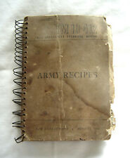 Military Cookbook Tm 10-412 Army Recipes Binder War Department 1946 Vintage Rare