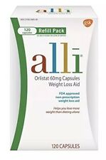 Alli Orlistat 60 mg 120 Caps Refill Pack Exp 1/2019 Weight Loss Aid