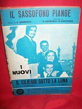 I NUOVI Il sassofono piange + Il ciliegio sotto la Luna 1969 Spartiti BEAT