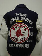 NEW Mens L Large G-III GIII Boston RED SOX Wool Leather 7 World Series Jacket