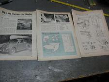 1966 VOLKSWAGON ADVT. BIG -LOAD FOR BEETLES -PIGGYBACK BIN -DO IT YOURSELF PLANS