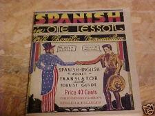 1952 TOURIST GUIDE SPANISH-ENGLISH TRANSLATOR PHONETIC