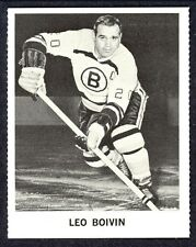 1965 COCA-COLA COKE LEO BOIVIN EX-NM BOSTON BRUINS HOCKEY CARD