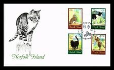 DR JIM STAMPS CATS FIRST DAY ISSUE COMBO NORFOLK ISLAND MONARCH SIZE COVER