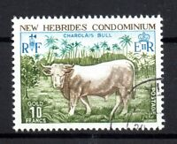 New Hebrides 1975 10F Bull very fine used F213 WS15899