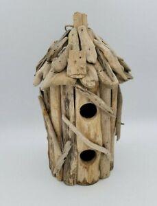 Handmade Hanging Driftwood Birdhouse Garden Art Beach Decor
