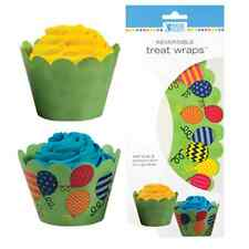 Birthday Cupcake Wrappers - Reversible -  Balloon (48) Cupcake Liners