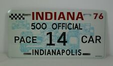 Novelty Replica 1976 Indianapolis 500 Pace Car License Plate Buick Century