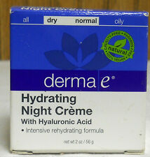 Derma E Hydrating Night Creme With Hyaluronic Acid Dry-Normal Skin   (New)