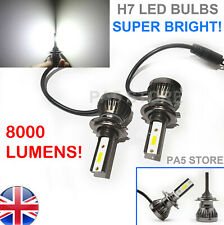 2x H7 Headlight LED Bulbs 8000 Lumens Bright COB XENON White 6000K Light Car 12V