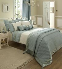 Catherine Lansfield Classique Duckegg Single Bed Quilt Cover Set