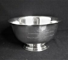 "Sterling Silver Revere Trophy Bowl #D260 -7.5/8"" International   568 g."
