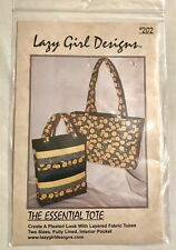 THE ESSENTIAL TOTE #202 Sewing Pattern Two Sizes Layered Lazy Girl Designs NEW