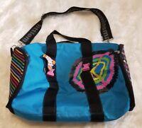 Little Miss Matched Blue Duffel Bag Peace Rainbow Spots & Stripes ▪See Details!