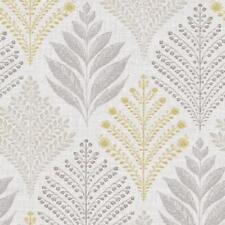 Grandeco Rowan Grey/yellow Floral Leaf Glitter Textured Wallpaper (a23304)