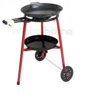 Mabel Home Paella Pan+Paella Burner and Stand Set on Wheels+Complete Paella Kit