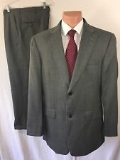 HAGGAR BLACK LABEL MENS 2PC SUIT SZ 42R 2 BUTTON WOOL PANTS 34X26 PLEATED EUC