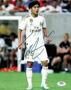 Takefuso Kubo signed 8x10 photo PSA/DNA Real Madrid Soccer