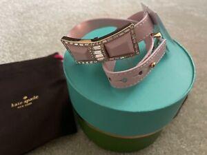 NWT Kate Spade Bow Wrap Bracelet Jackpot jewels pink saffiano leather gift box
