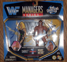 WWF Sable & Marc Mero Jakks Managers Wrestling Figure MOC - Signed By Both! WWE