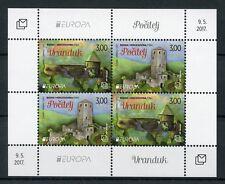 Bosnia & Herzegovina 2017 MNH Castles Europa 4v M/S Architecture Stamps