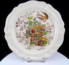 "ROYAL DOULTON HAMPSHIRE FLOWERS, FRUIT, URN & BIRD ROUND 12 1/2"" CHOP PLATE"