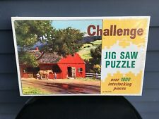 Vintage Saalfield Challenge Jigsaw Puzzle 1000 pc Village Smithy 1963 unopened
