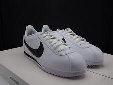 Women's Nike Classic Cortez Leather White / Black 807471-101 Size 12 US