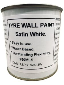 250ml Car & Motorcycle Tyre Wall Paint White. Whitewall Hot Rod, Classic