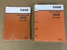 TWO CASE 1840 UNI-LOADER SKID STEER SERVICE REPAIR MANUAL SCHEMATIC SHOP LOADER