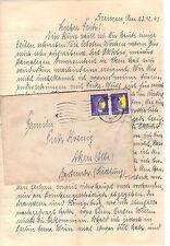 Echte Ungeprüfte Briefmarken aus dem deutschen Reich (1933-1945) mit Bedarfsbrief
