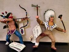 Retired Papo Wild West Western Indian Warrior lot Sioux War Chief Cherokee Brave