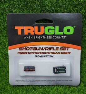 TruGlo Remington Shotgun/Rifle Fiber Optic Sight Set, Green/Red - TG110W