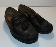 Johnson & Murphy Flex 25-8345 Leather Tassel Loafers 9 1/2 M Black Brown Shoes