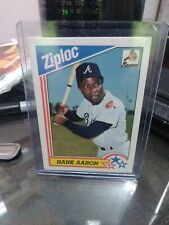 1992 Ziplock Baseball #11 Hank Aaron alanta braves